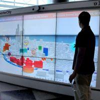 Ecran interactif / tactile grand format en gare pas cher