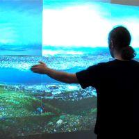 Simulation aerienne / drone sur ecran interactif